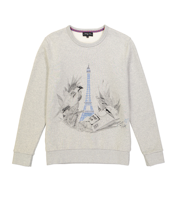 SWEAT JUNGLE EIFFEL - Marl grey