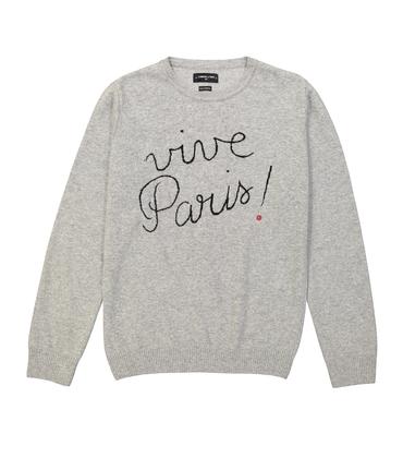PULL VIVE PARIS - Marl grey