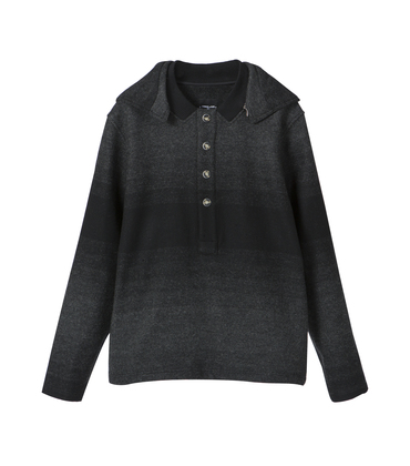 PEA JACKET SATURNIN-2  - Black gradient