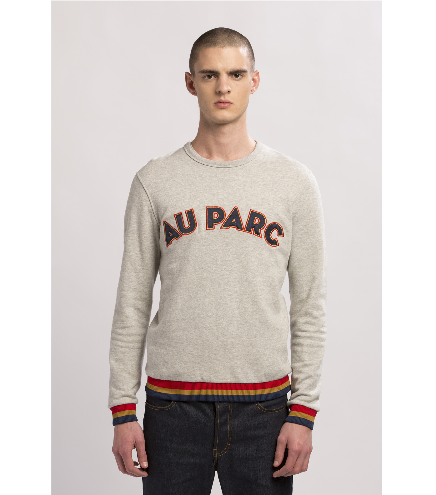 SWEAT  AU PARC  - Marl grey