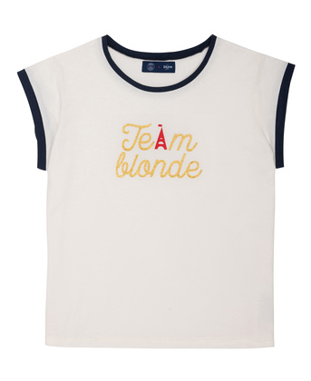 WOMEN PRINTED TEE-SHIRT TEAM BLUNE - White