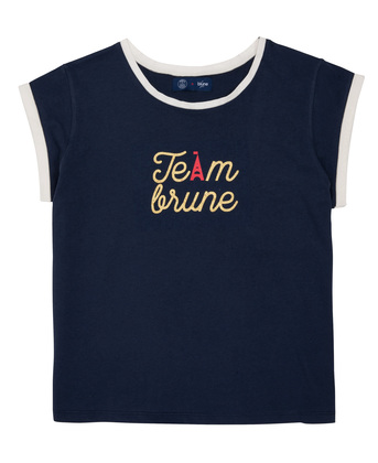 WOMEN PRINTED TEE-SHIRT TEAM BLUNE - Navy