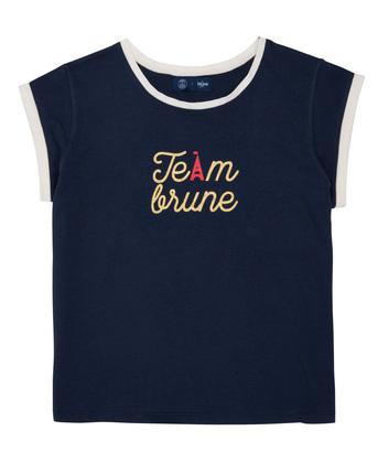 T-SHIRT IMPRIMÉ FEMME TEAM BLUNE - Marine