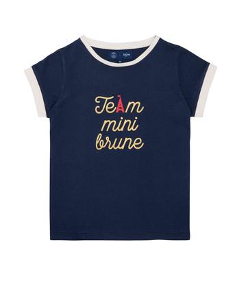 T-SHIRT IMPRIMÉ TEAM BLUNE - Marine