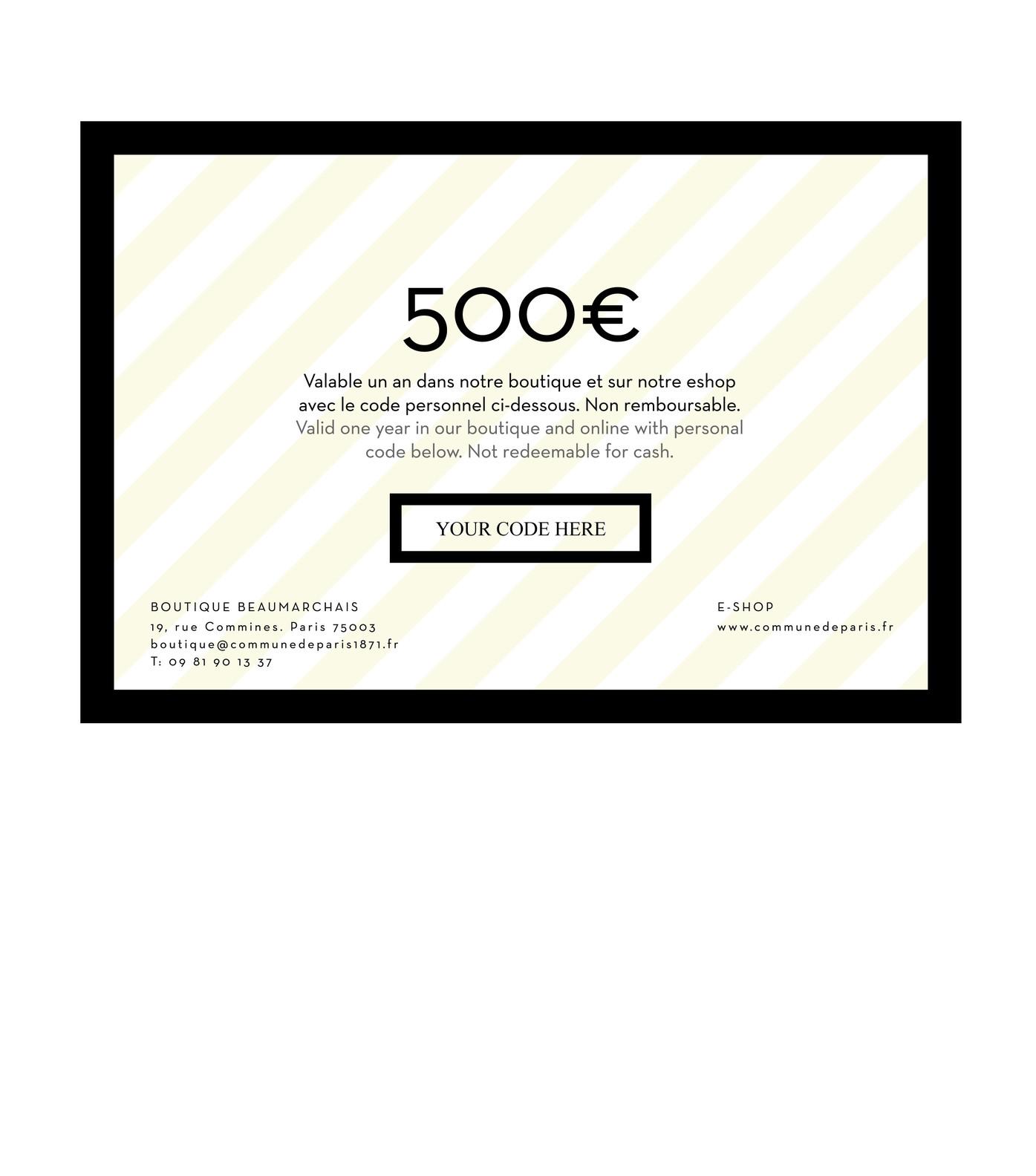 GIFT CARD - Black card 500€