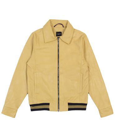 LEATHER JACKET BELISAIRE - Yellow