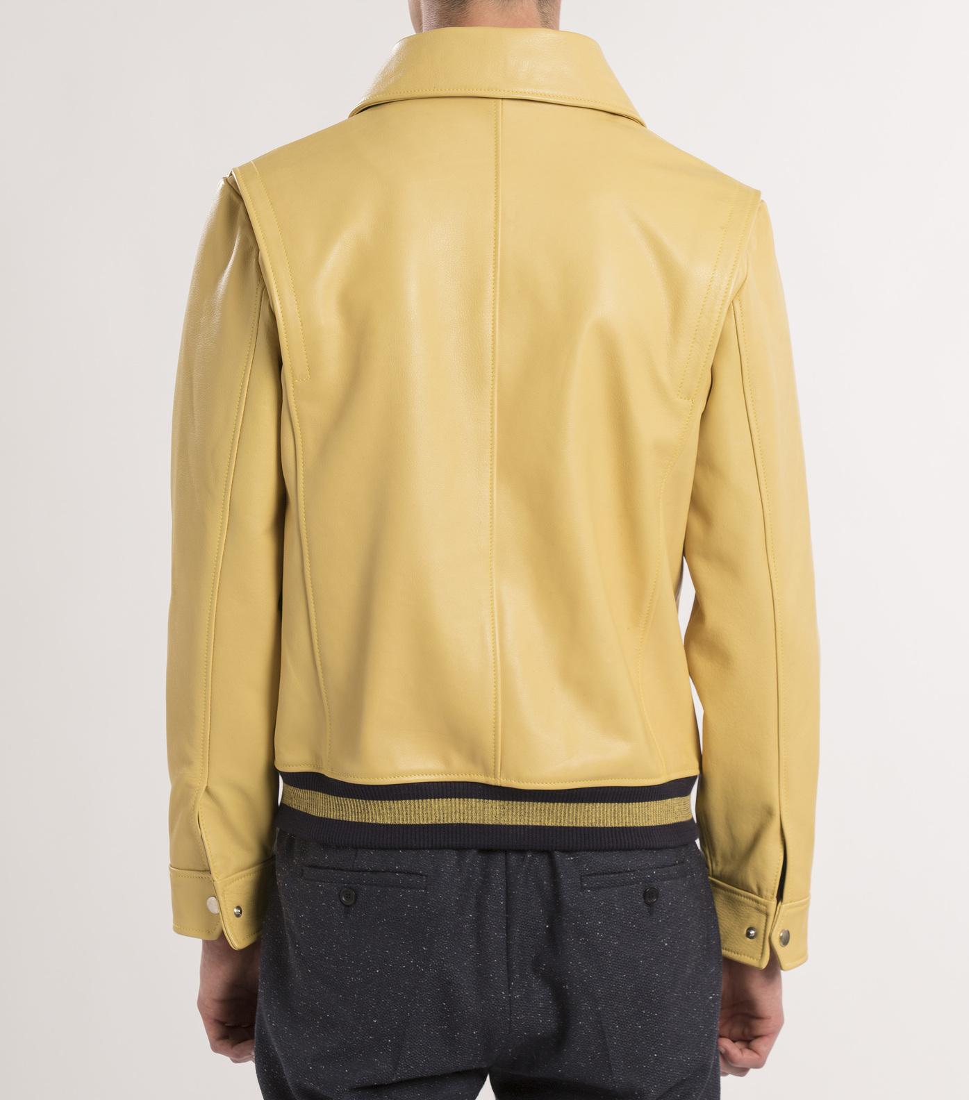 LEATHER JACKET BELISAIRE - Yellow