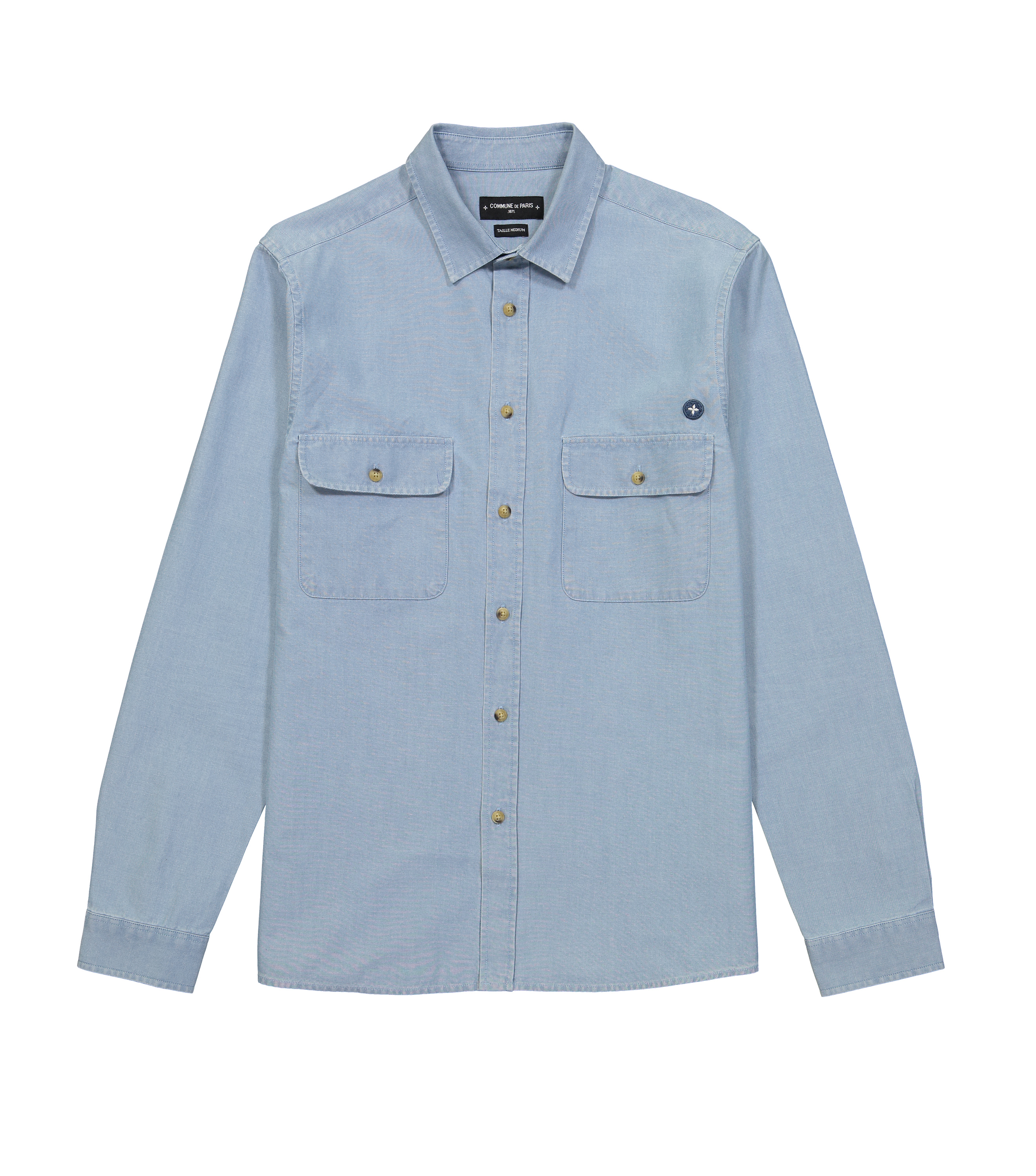 SHIRT  FERDINAND - Bleached denim