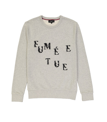 SWEAT  FUMEE TUE - Marl grey