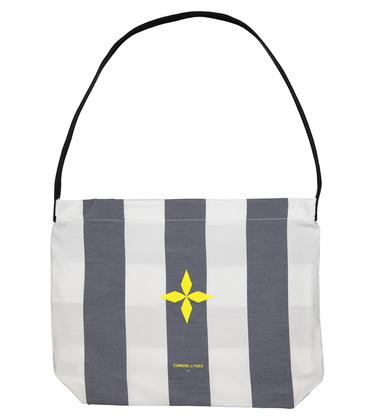 TOTEBAG  PLAID  - Blue stripes