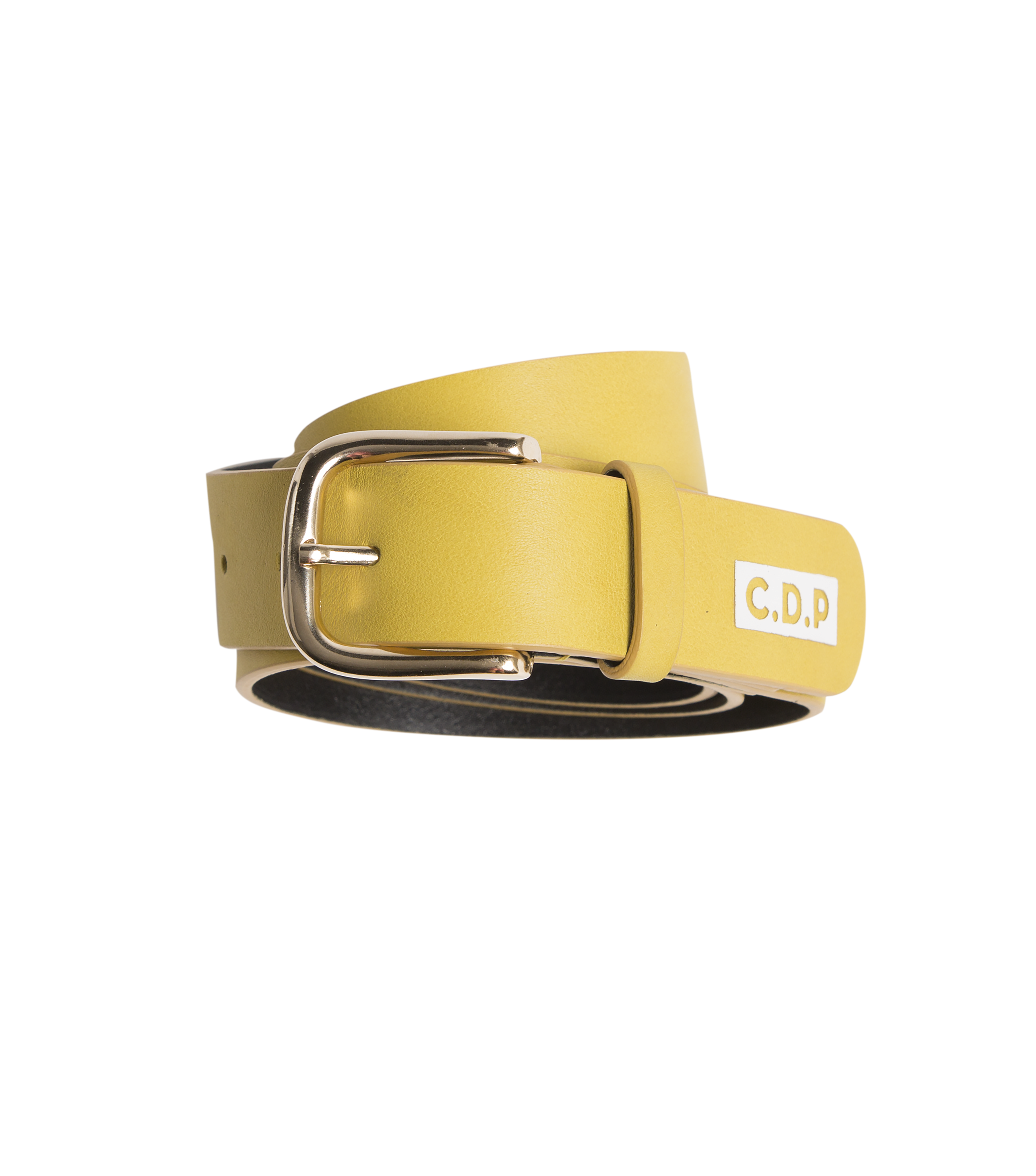BELT  LEATHER  - Yellow