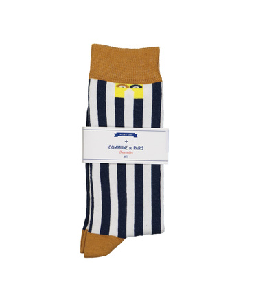 SOCKS ECHASSES  - Navy stripes