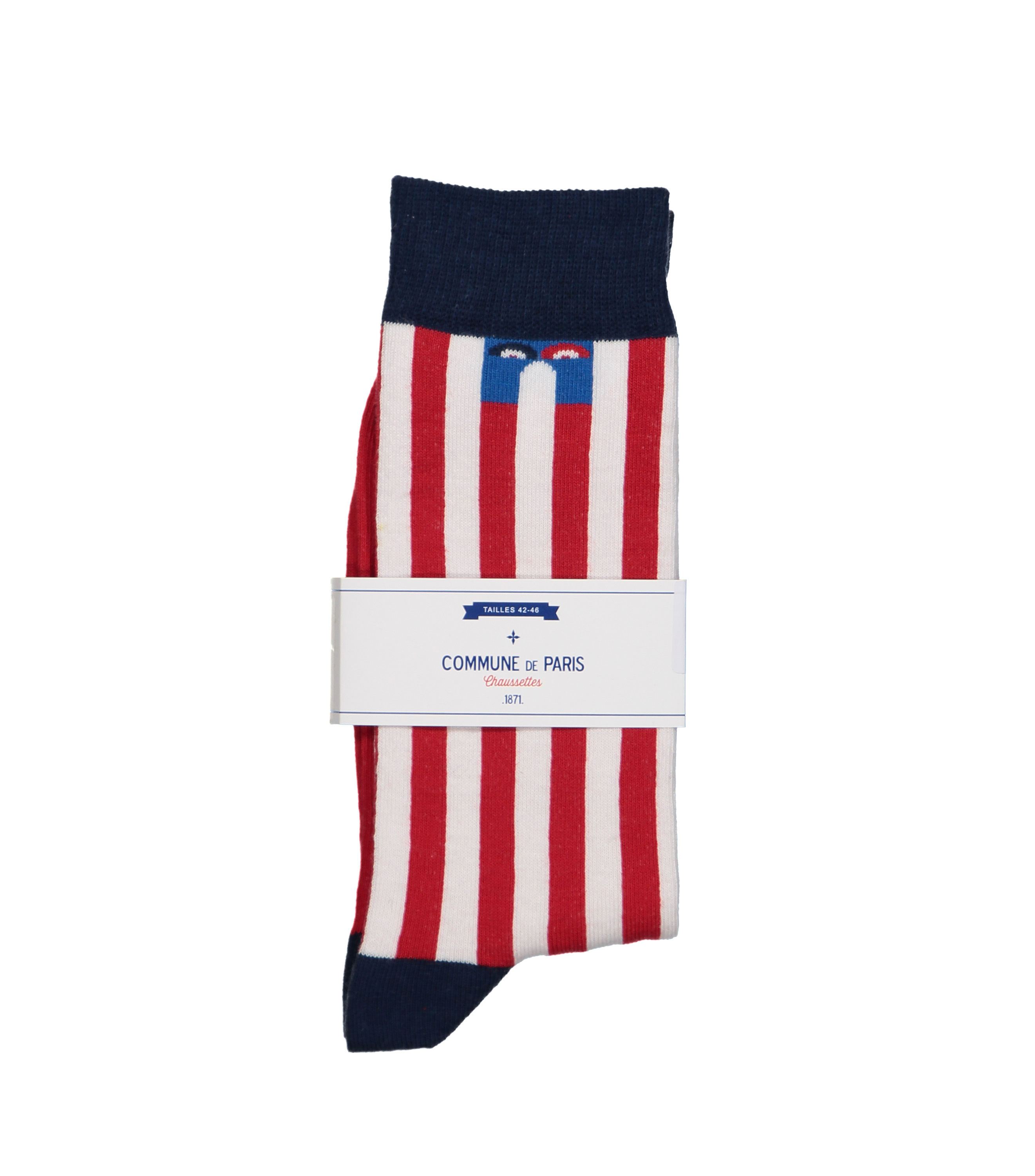 CHAUSSETTES ECHASSES  - Rayures rouges