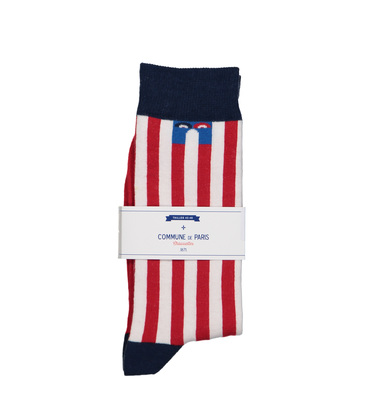 SOCKS ECHASSES  - Red stripes