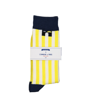 SOCKS ECHASSES  - Yellow stripes
