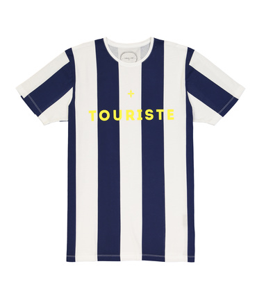 TEE  TOURISTE 2  - Navy stripes