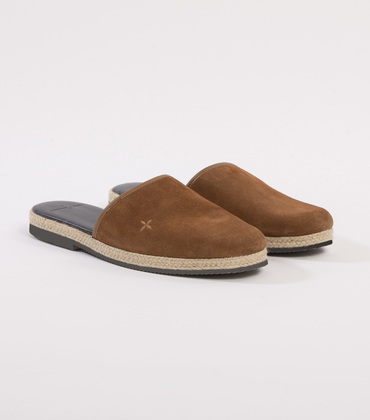 LEATHER MULES CDP - Camel leather
