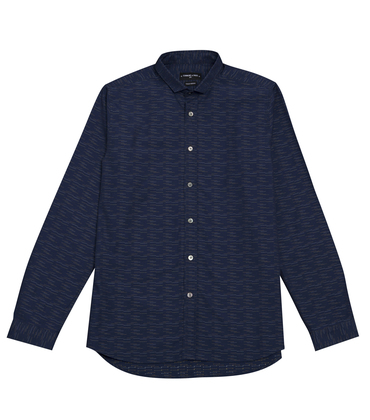 SHIRT  LISSAGARAY  - Navy stripes