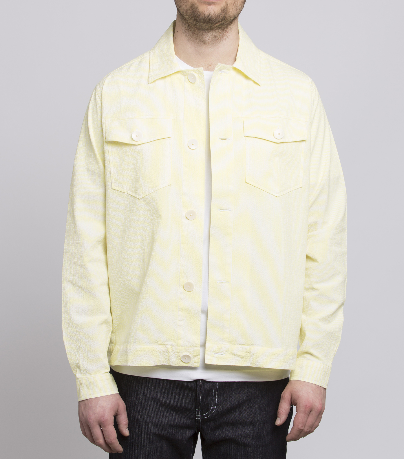 LIGHT JACKET OJEAN - Yellow stripes
