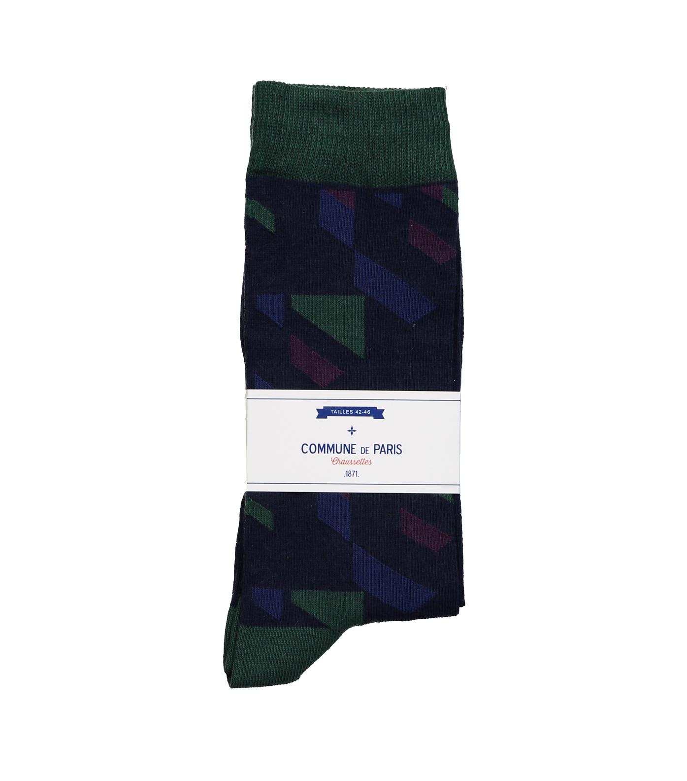SOCKS BEAUREPAIRE - Navy/green