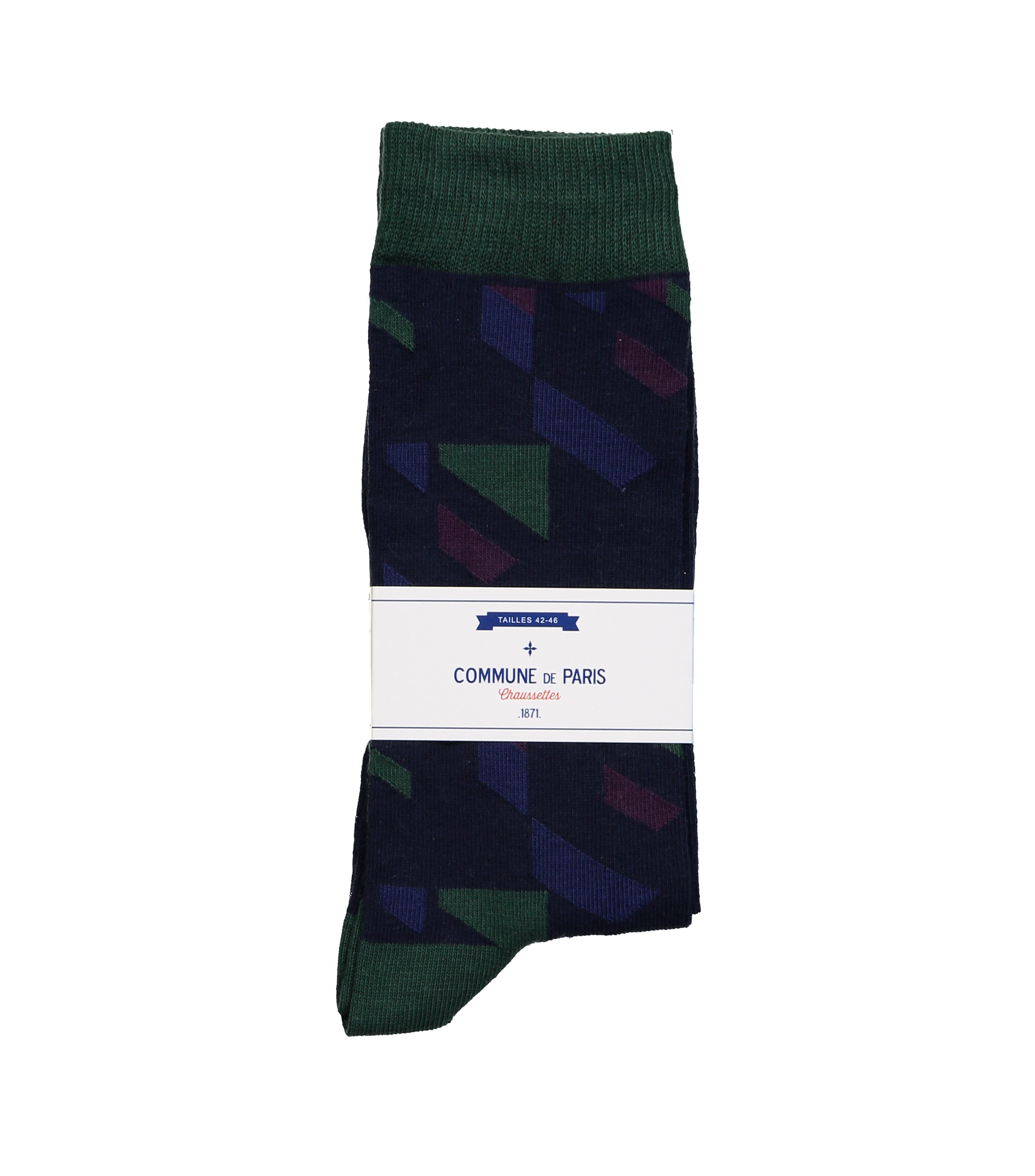 SOCKS BEAUREPAIRE - Navy/green