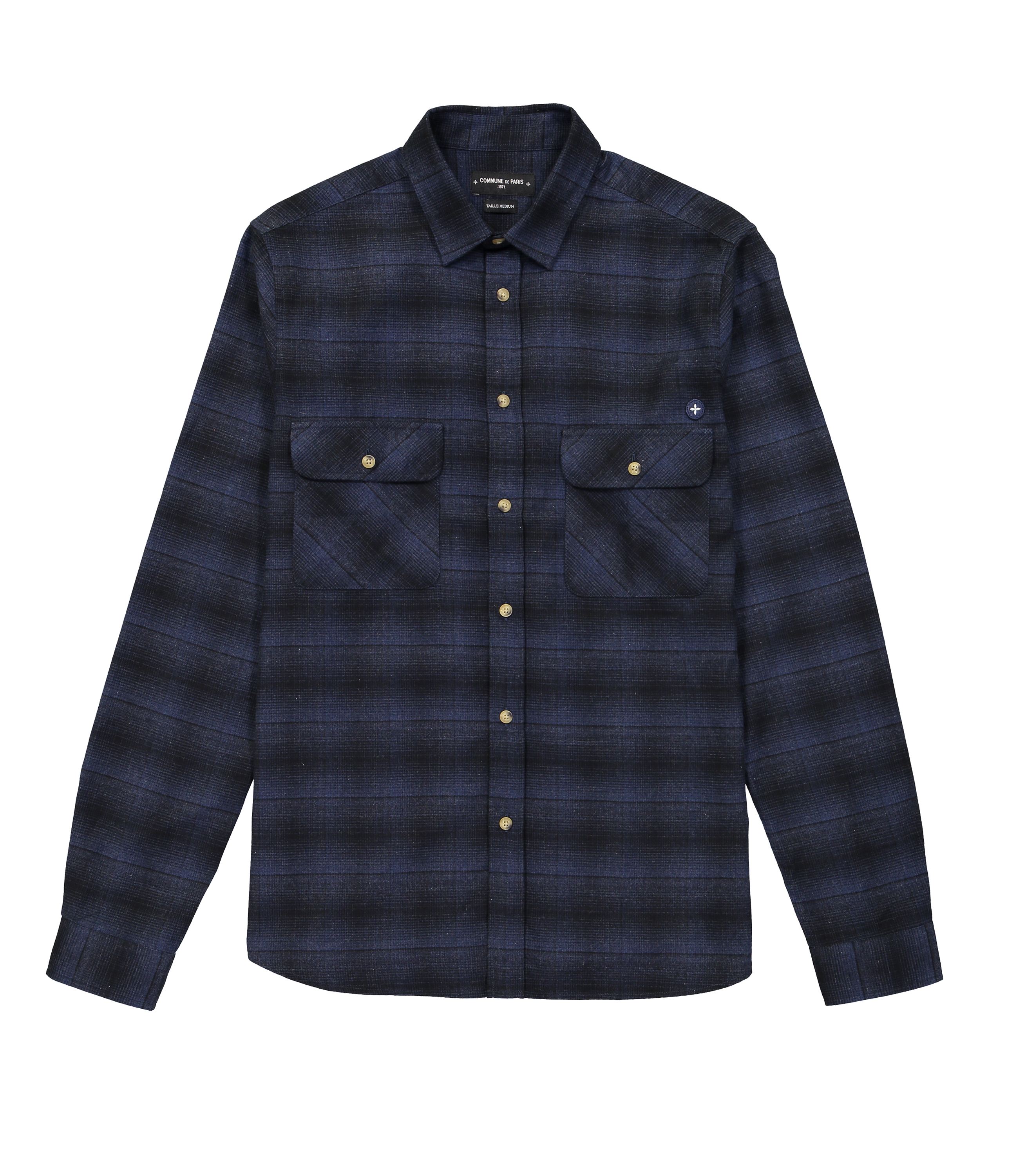 SHIRT FERDINAND - Navy checks