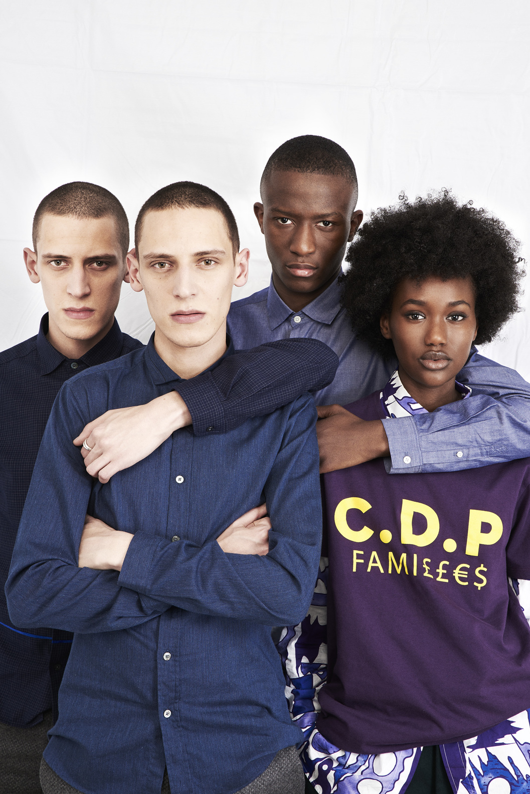 TEE CDP FAMILLES - Dark purple