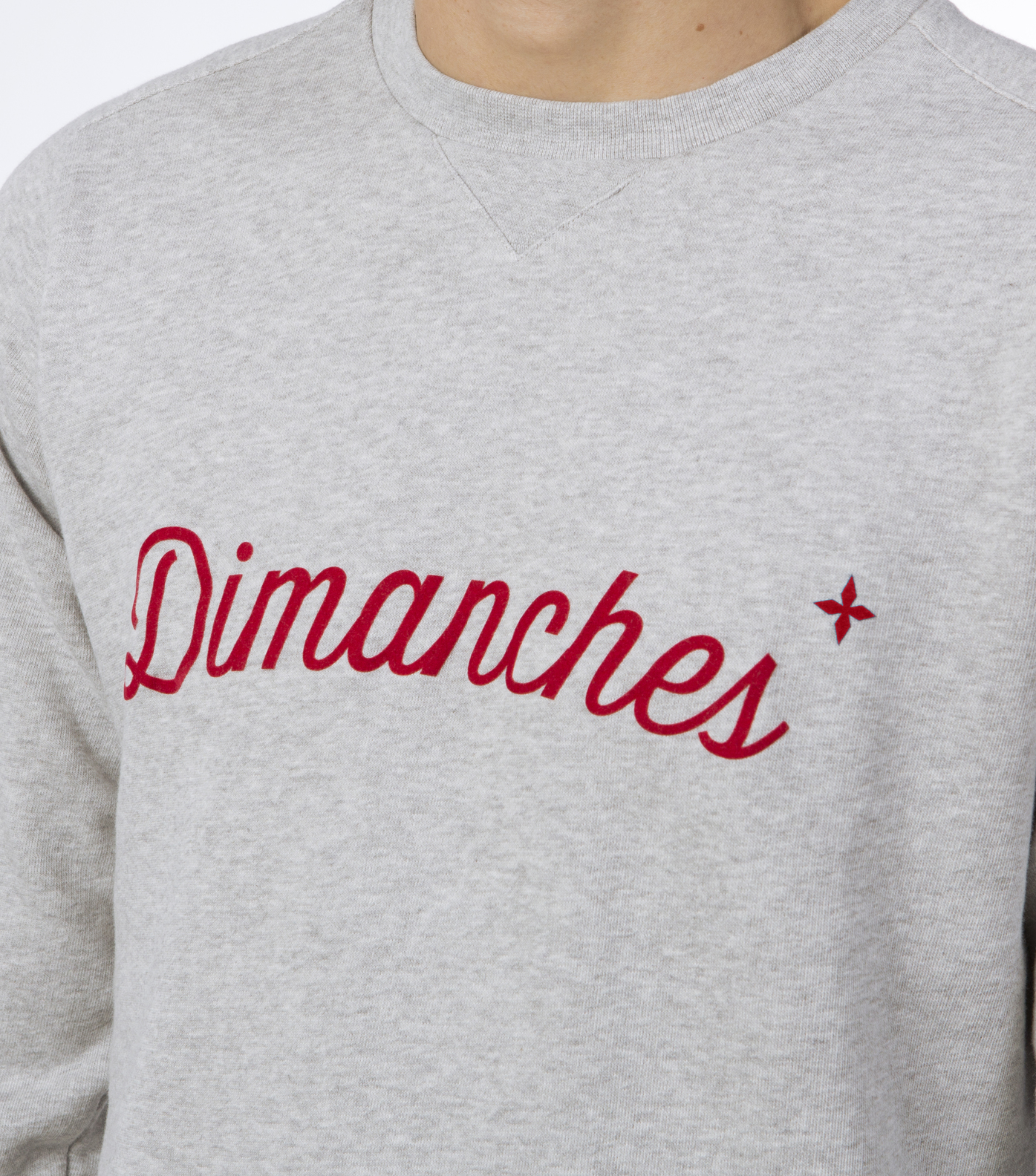 SWEAT DIMANCHES - Gris chine