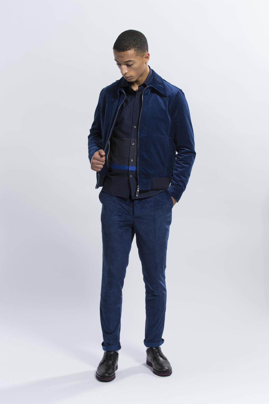BLOUSON CAMILLE  - Bleu velours