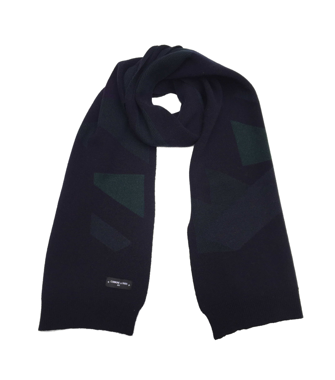 SCARF BEAUREPAIRE - Navy/green