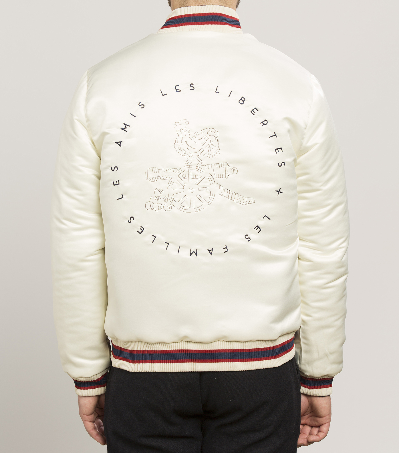 JACKET SOUVENIR  - Navy/off white