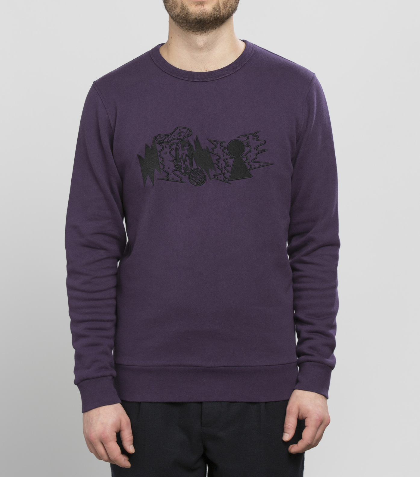 SWEAT DECOMBRES - Violet fonce