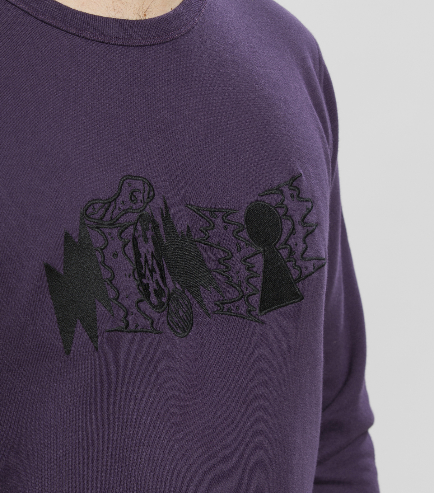 SWEAT DECOMBRES - Dark purple