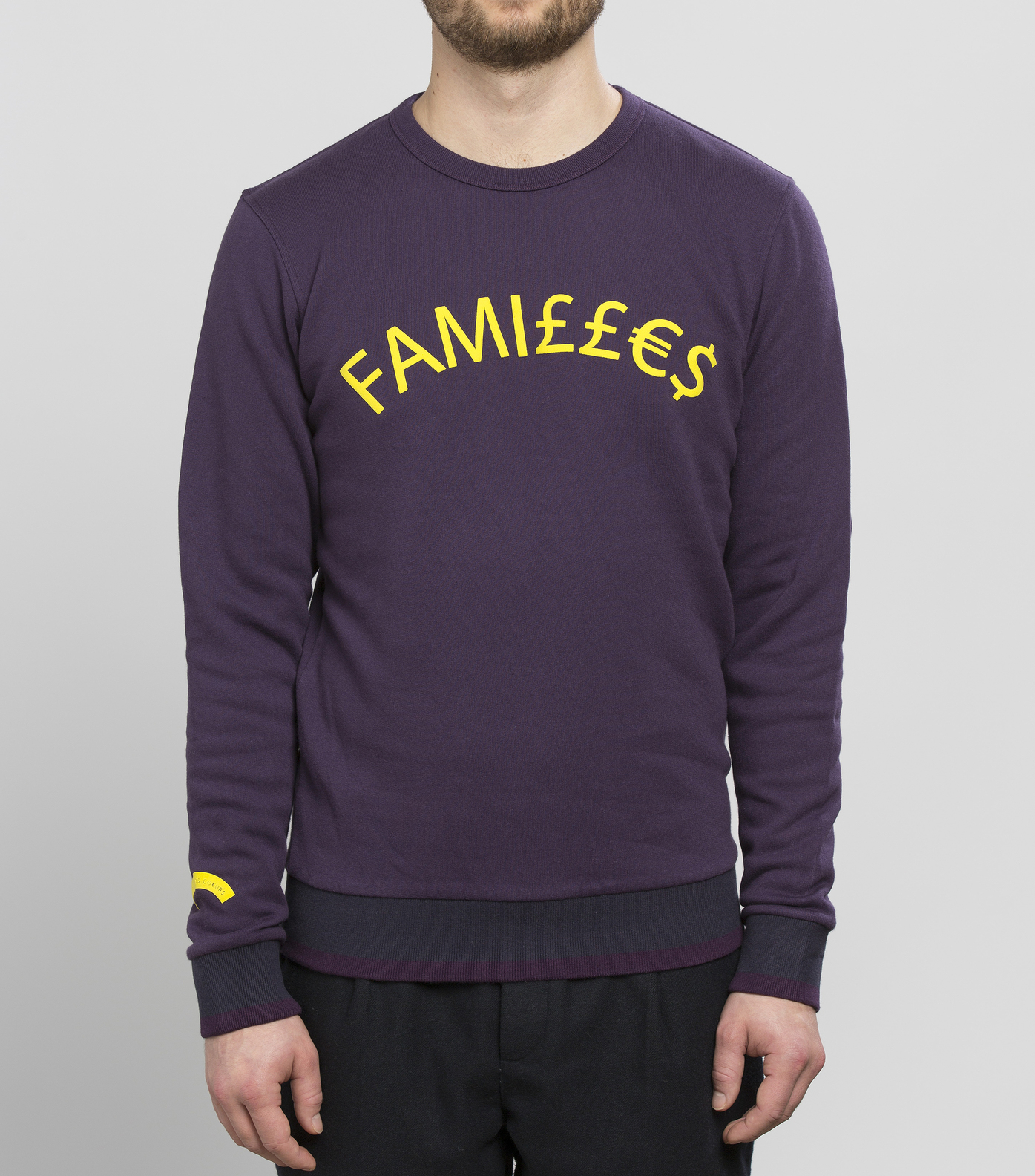 SWEAT FAMILLES - Dark purple