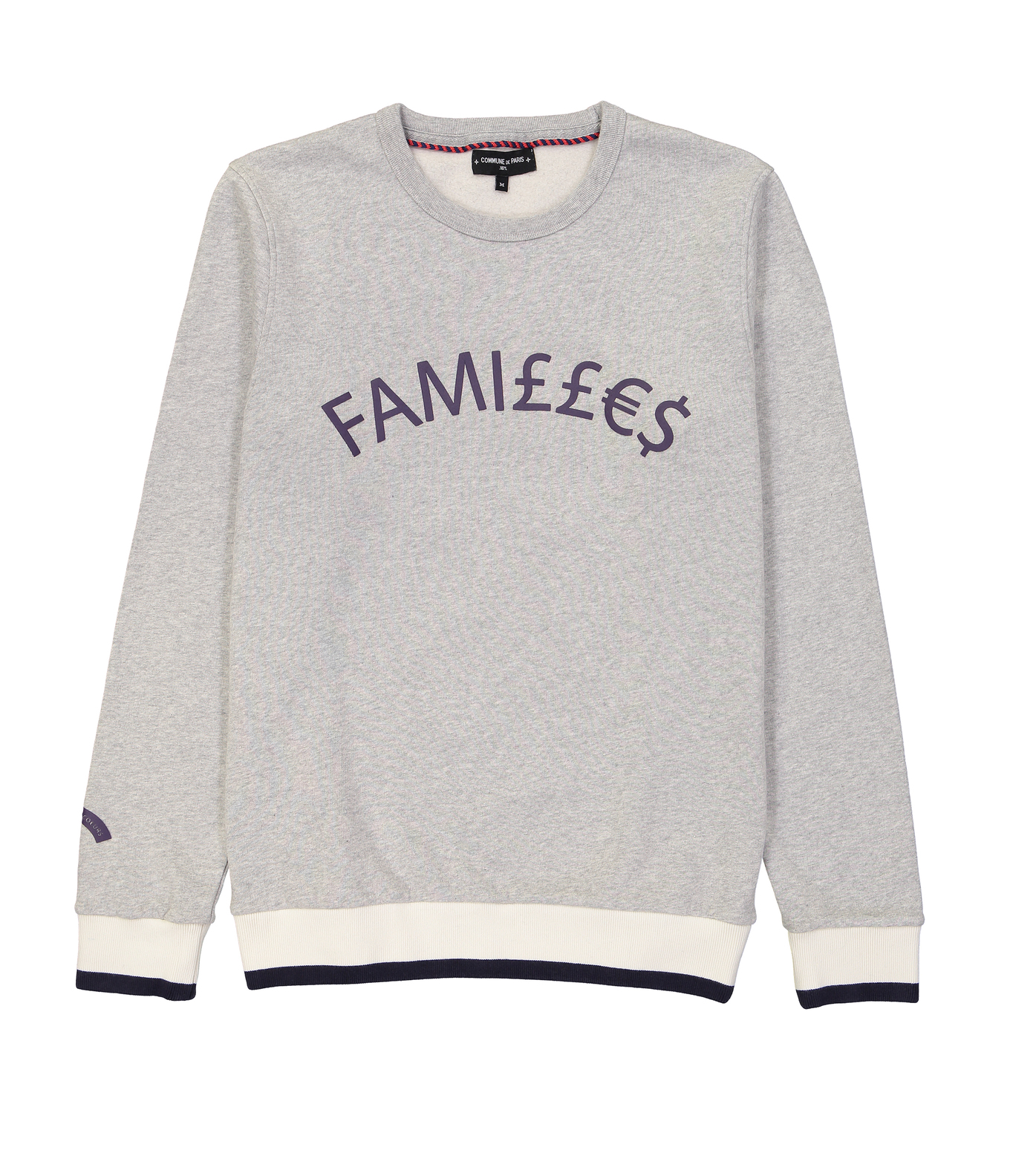 SWEAT FAMILLES - Marl grey