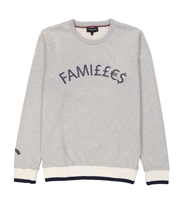 SWEAT FAMILLES - Gris chine