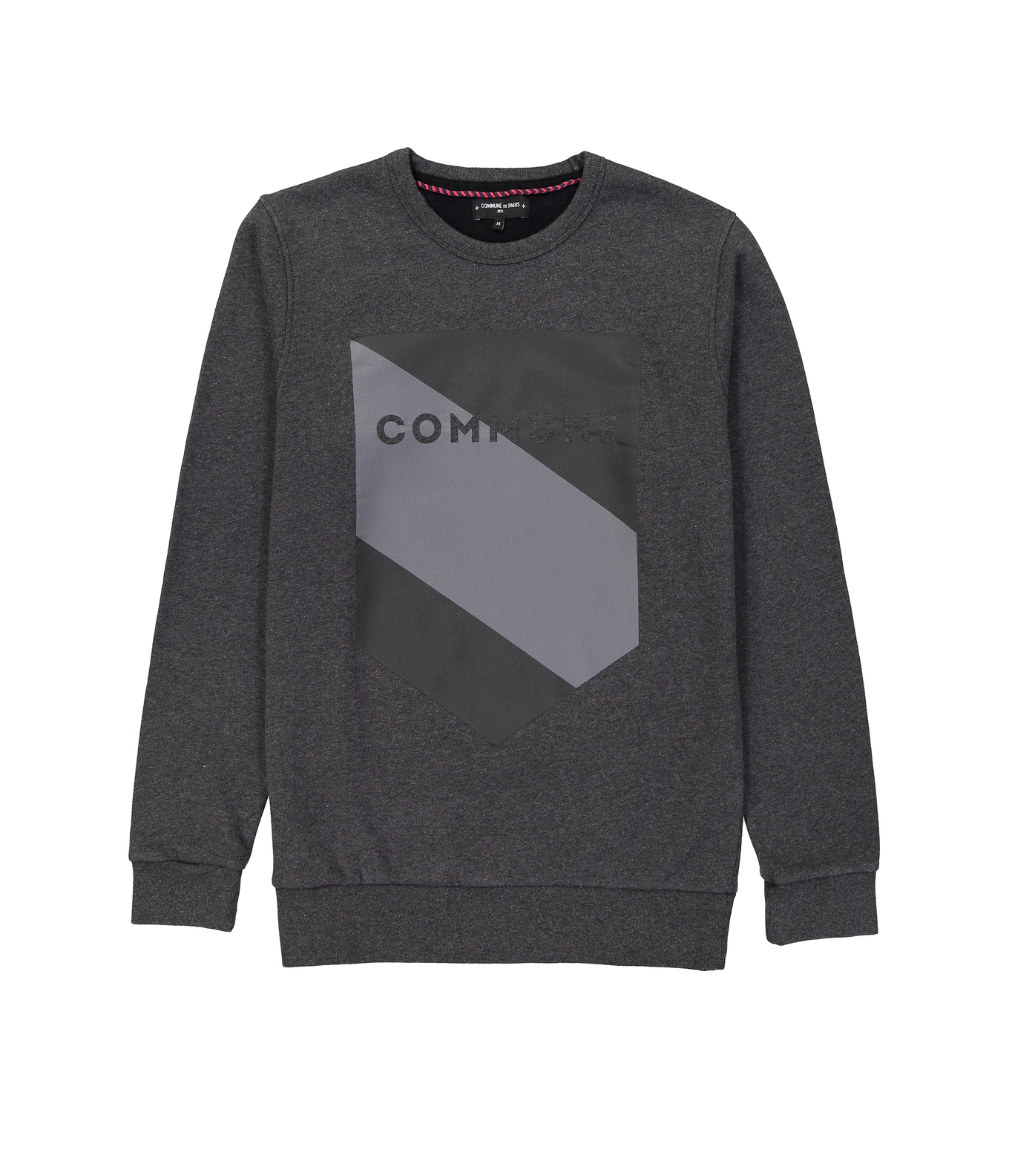 SWEAT BLASON COMMUNE - Dark grey