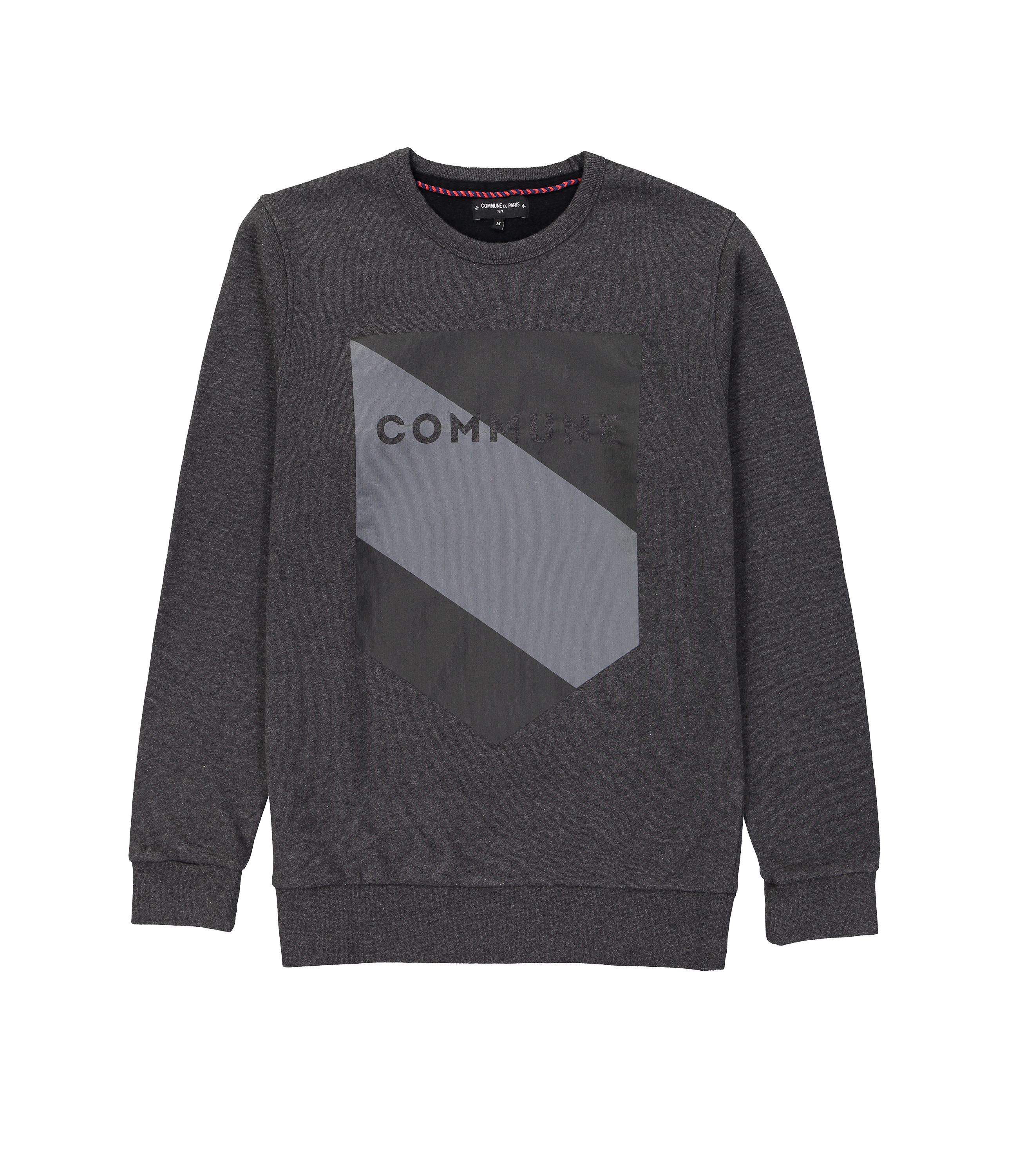 SWEAT BLASON COMMUNE - Gris fonce