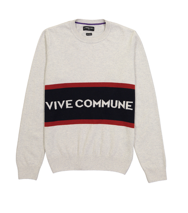 PULL VIVE COMMUNE - Gris chine