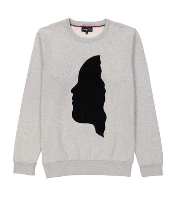 SWEAT VISAGE - Marl grey