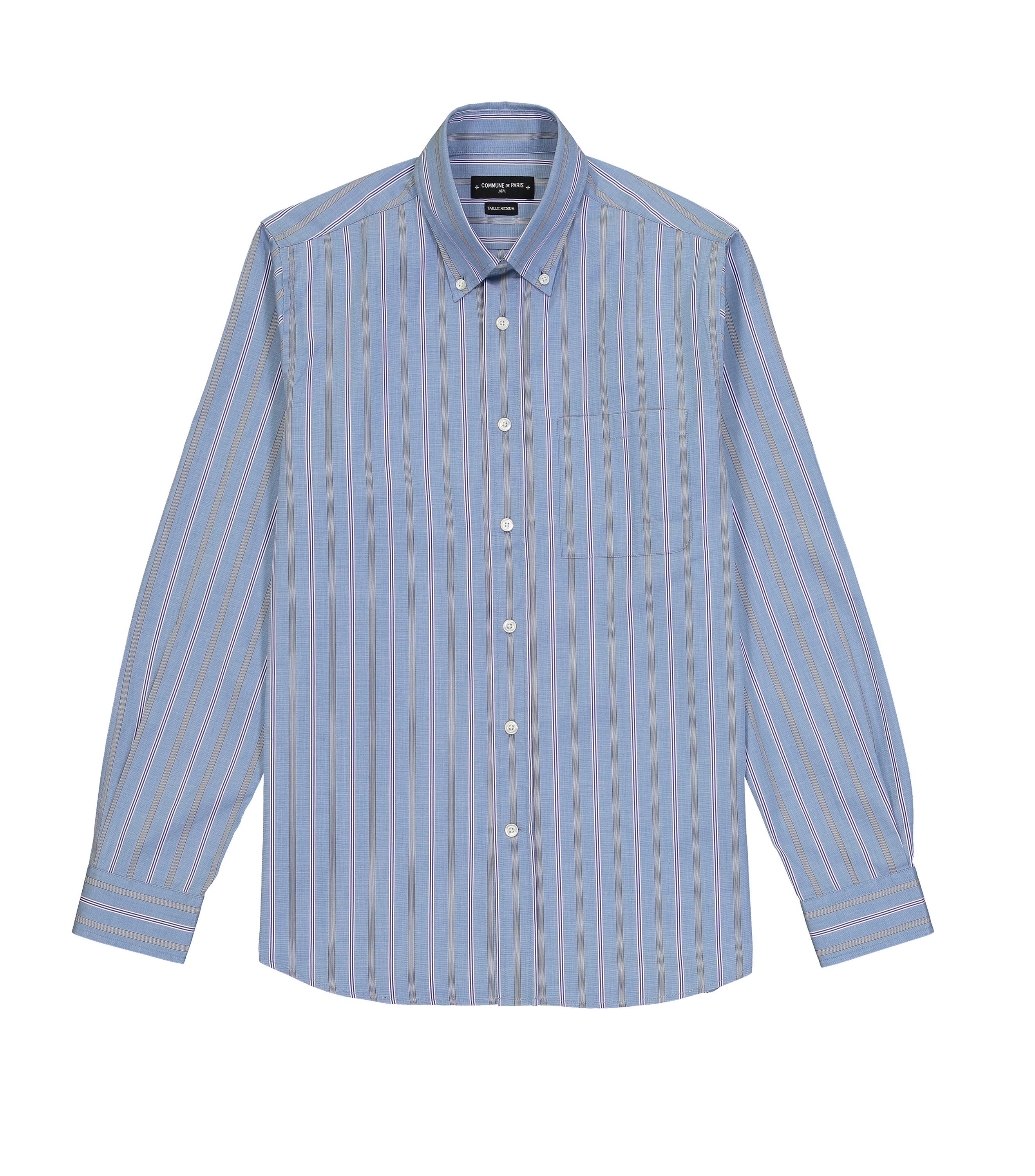 SHIRT EUDES - Purple stripes
