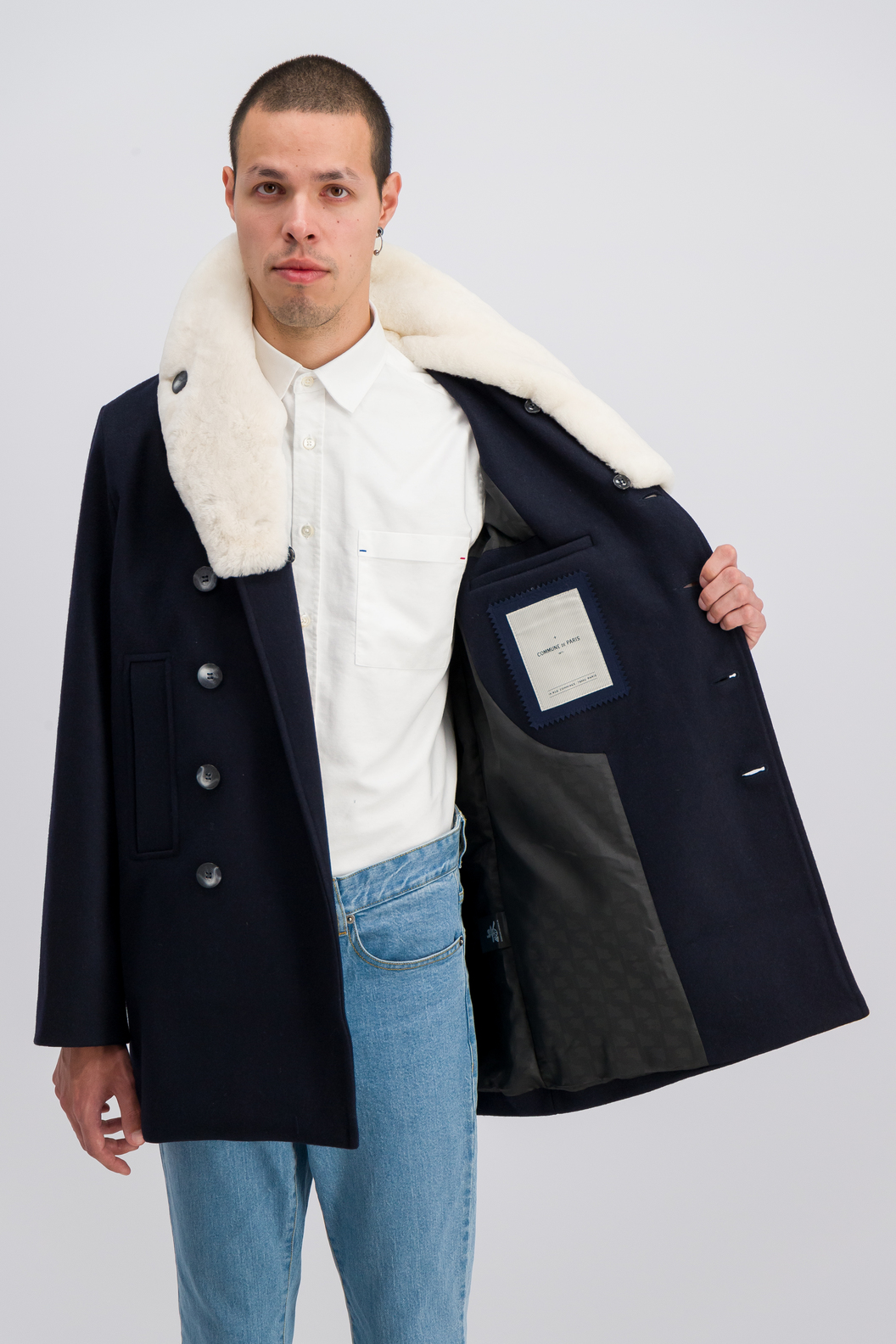 PEA COAT LISBONNE  - Navy