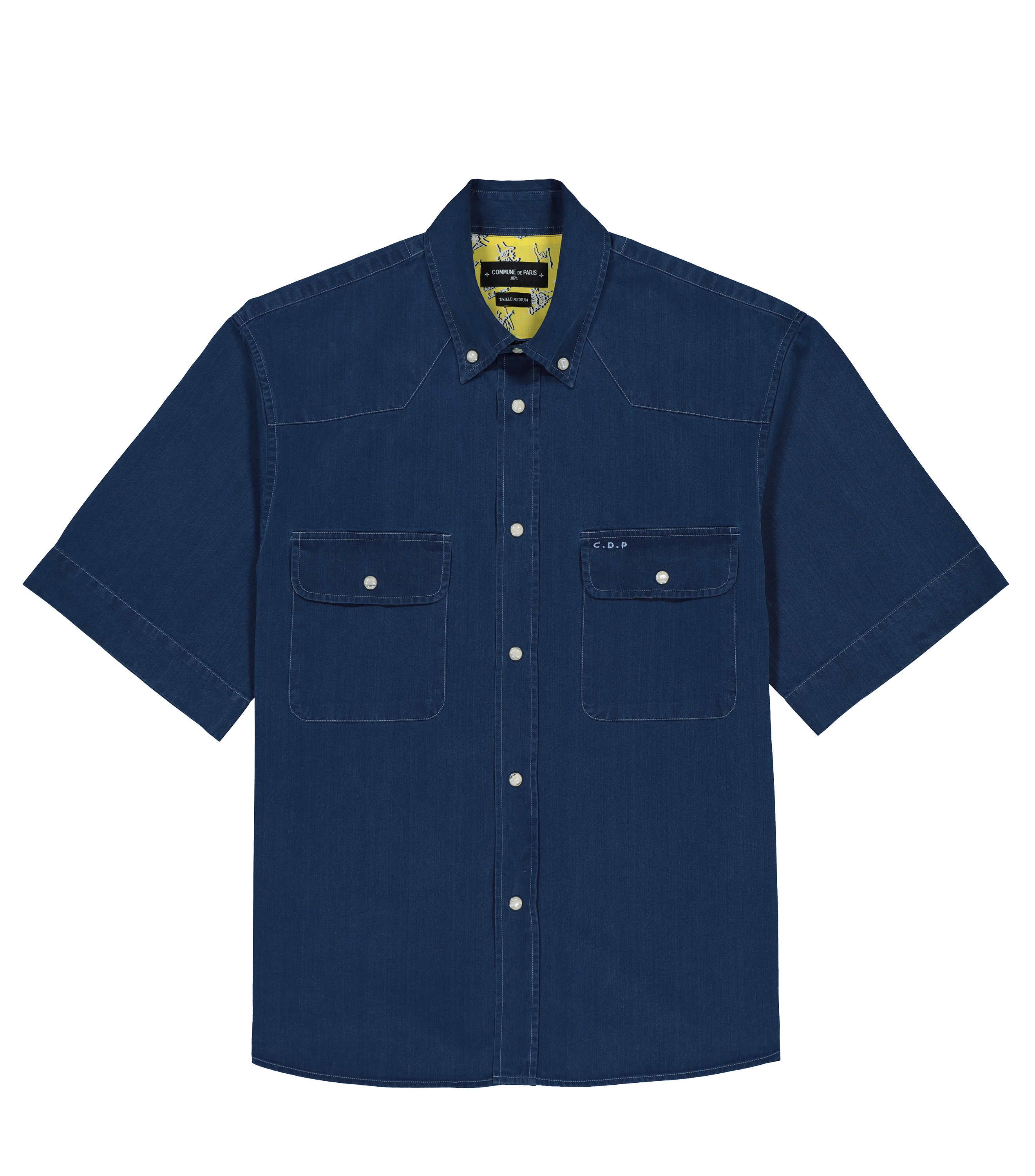 SHIRT BLANQUI-SS - Blue denim