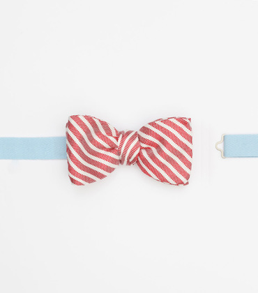 Bow tie Auguste - Striped red