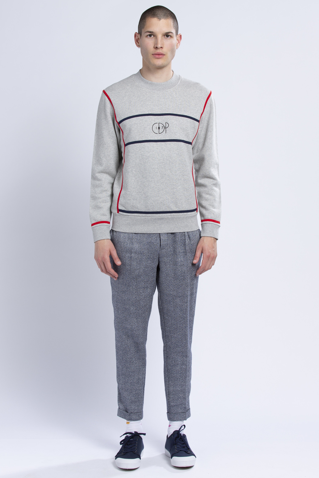 SWEAT MONDRIAN - Marl grey