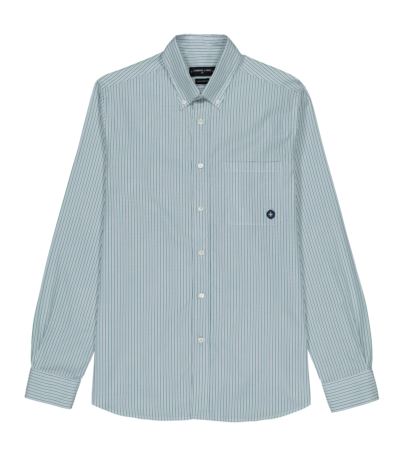 SHIRT EUDES-B - Green stripes