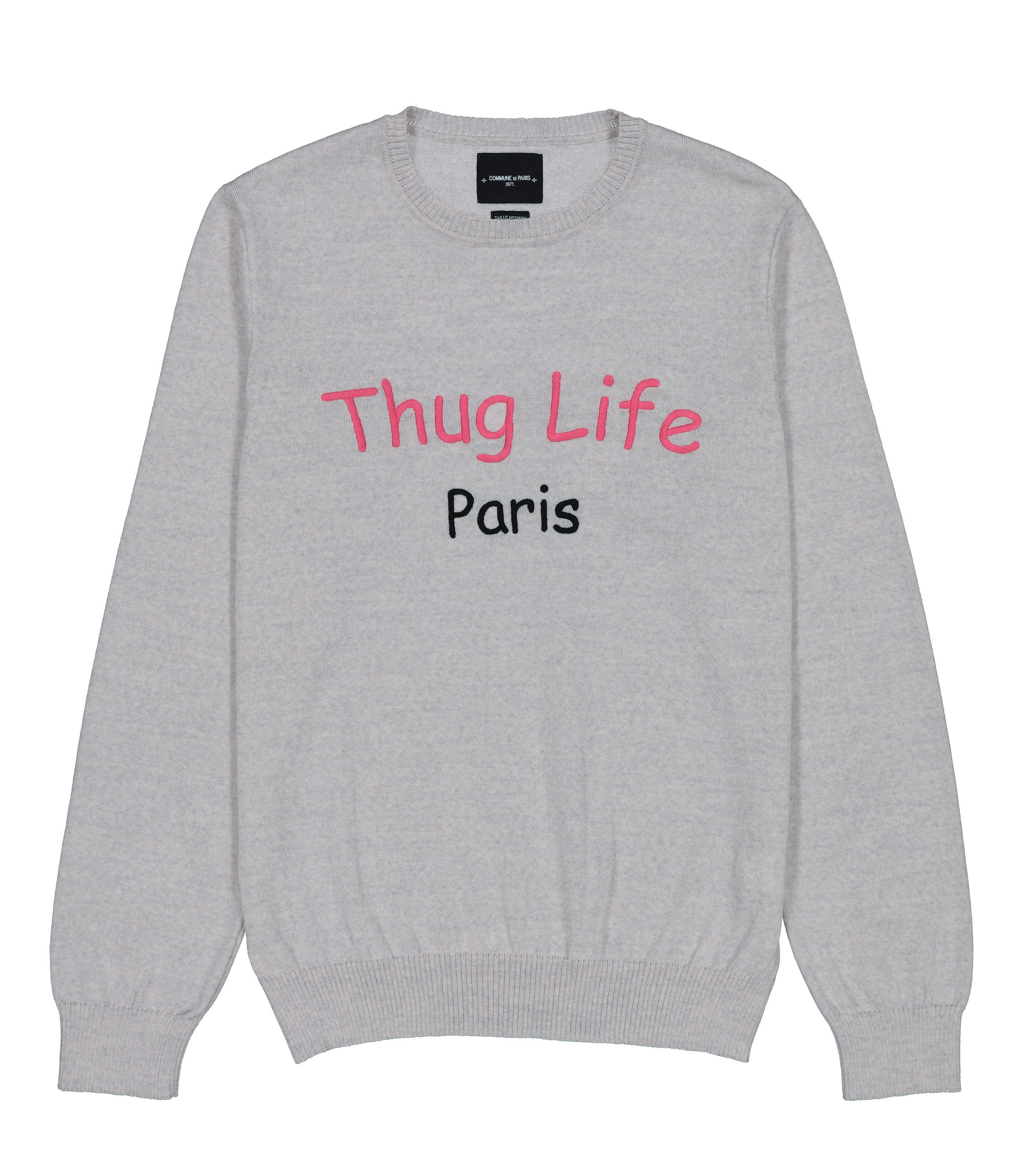 PULL THUG - Gris chine