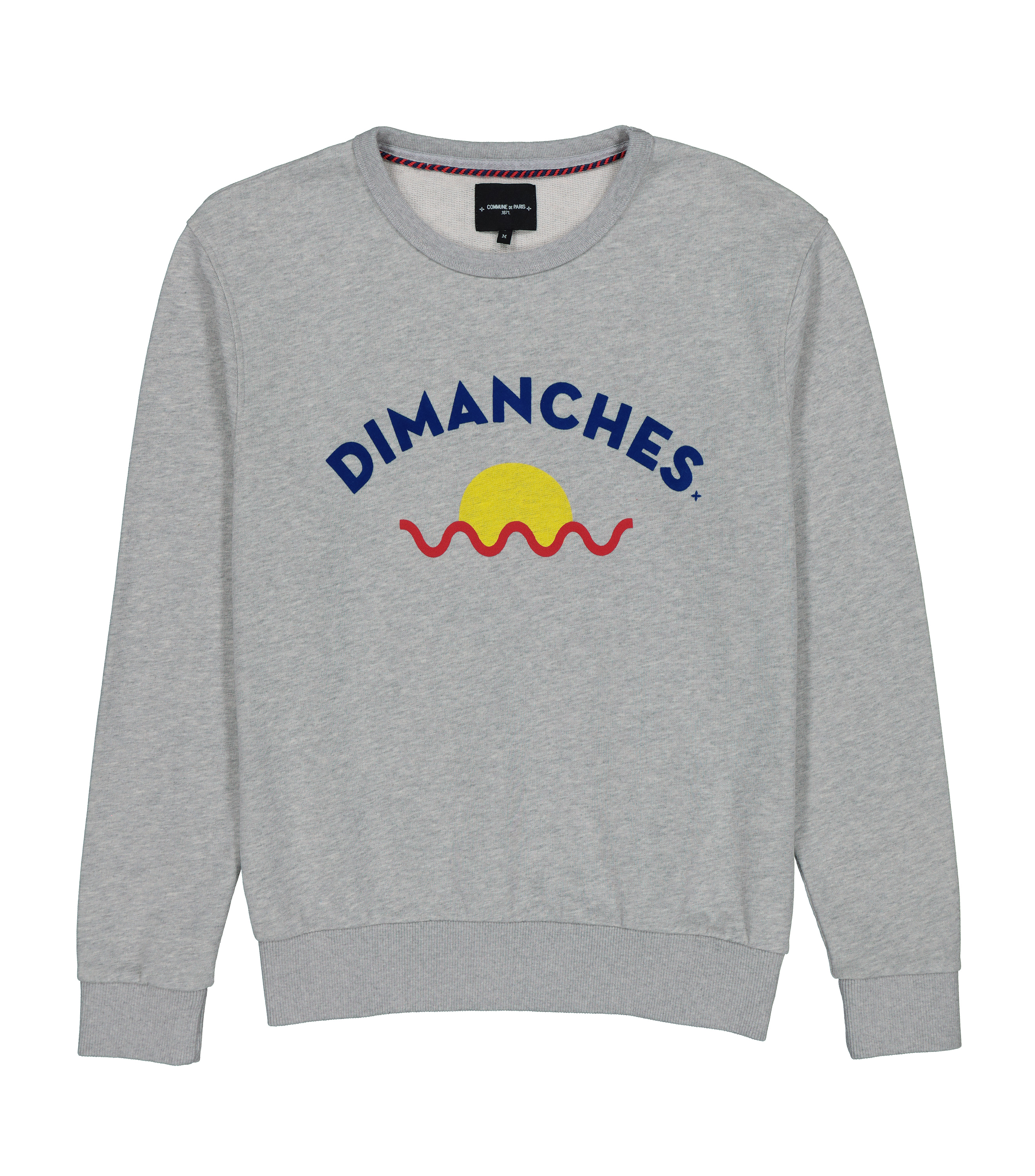 SWEAT DIMANCHES SUN - Marl grey