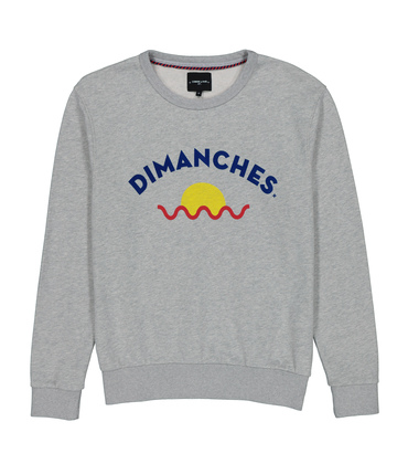 SWEAT DIMANCHES SUN - Gris chine