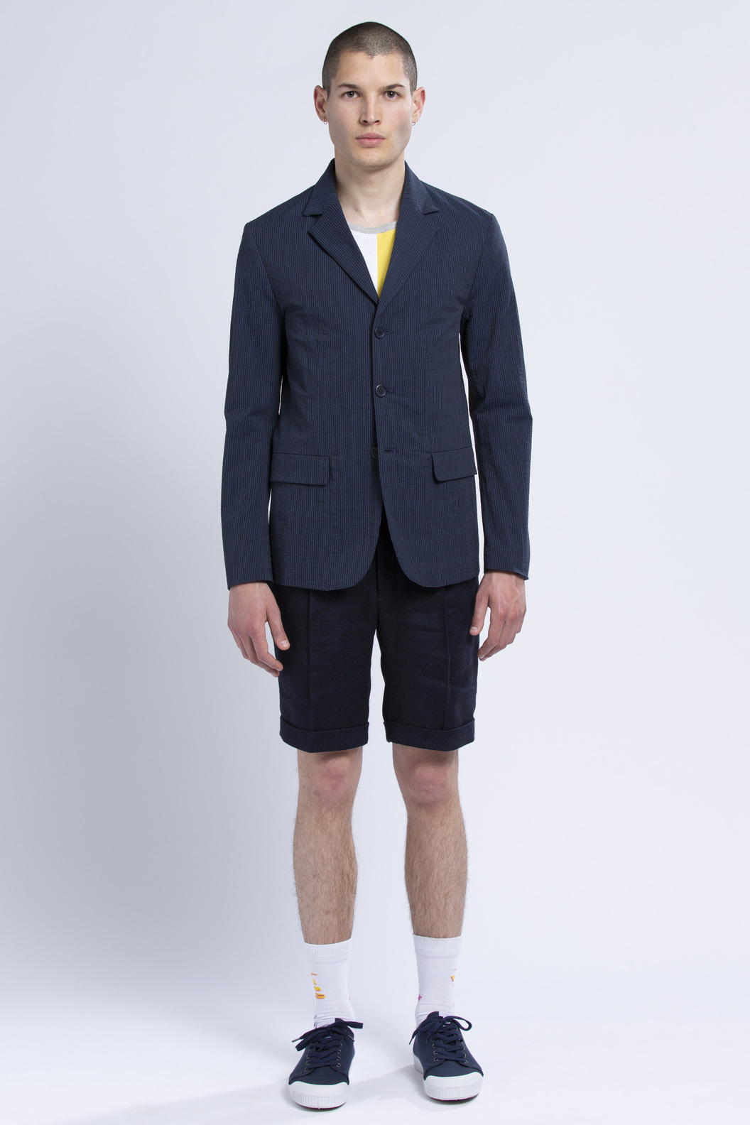 SUIT JACKET PROTOT - Navy stripes